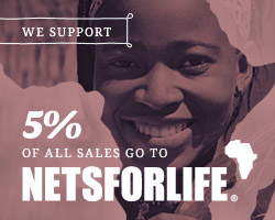 We support Nets For Life widt 5% of all sales