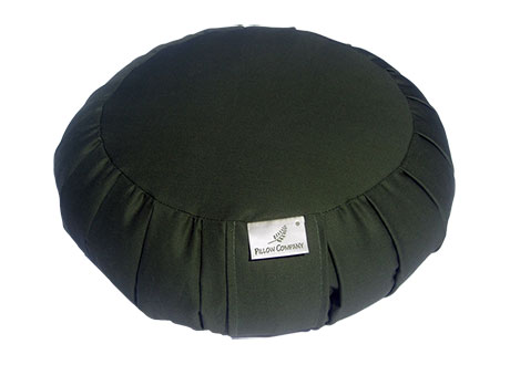 Round Meditation Bolsters offer support in various resting and restorative postures.
